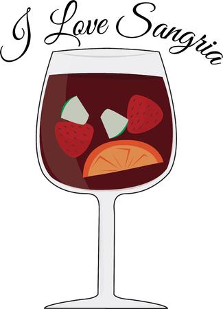 sangria: Use this sangria for a wine connoisseur. Illustration
