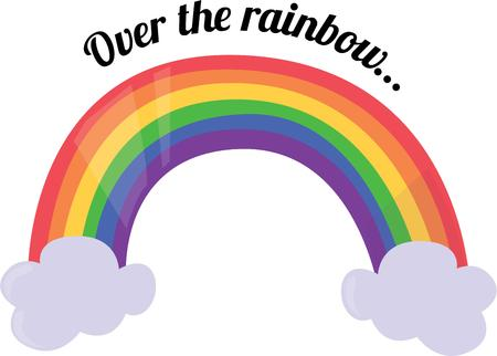 addition: Use this rainbow for a colorful addition to your project.