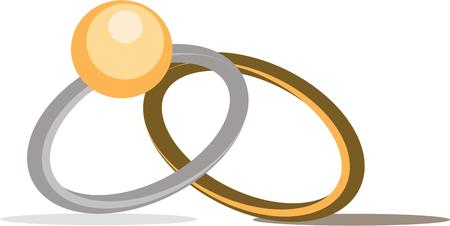 bearer: Use these rings to make a beautiful ring bearer pillow. Illustration