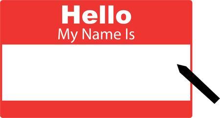 rectangulo: Que la gente sepa acerca de usted con una etiqueta con su nombre. Vectores