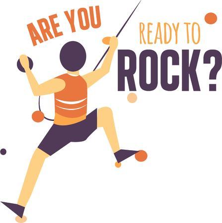 scrambling: Mostra il tuo amore per lo sport di arrampicata su roccia.