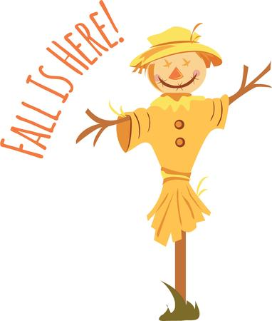 autumn scarecrow: A scarecrow is a great Thanksgiving decoration. Illustration