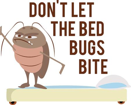 exterminator: This bed bug will be a wonderful logo for an exterminator.