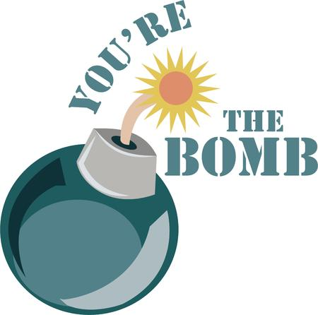 rocket bomb: Show off your explosive personality with a bomb.