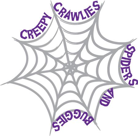 spider web: Use a spider web to decorate for Halloween.