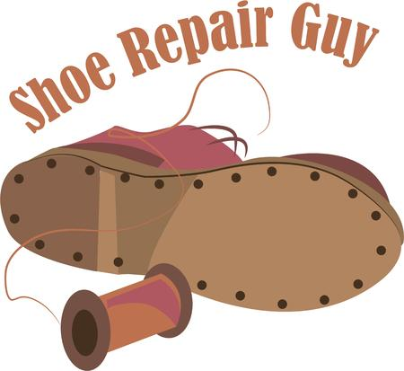 cobbler: This boot will make a great logo for a cobbler. Illustration