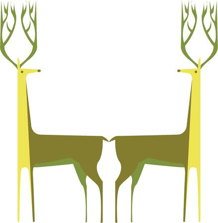 hind: Beautiful deer are a great wildlife design.