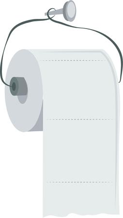 water closet: Decorate a bathroom towel with a cute roll of toilet paper.