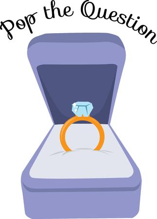 congratulate: Congratulate your friend on their engagement with this precious design. Illustration