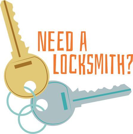 latchkey: need a locksmith key icon Illustration