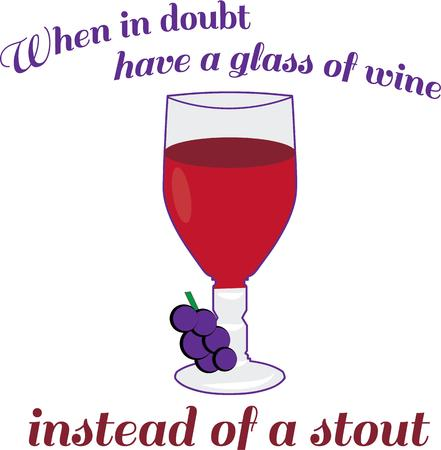 stout: Make happy hour fun with a great glass of wine. Illustration