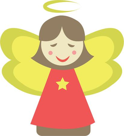guardian angel: Make a pretty guardian angel for a nursery.