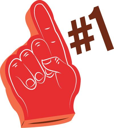 have fun: Sports fans will have fun with a foam finger. Illustration