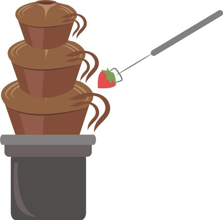 sweet tooth: You can satisfy a sweet tooth with this delicious chocolate fountain.