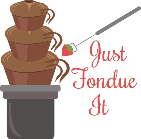 satisfy: You can satisfy a sweet tooth with this delicious chocolate fountain.