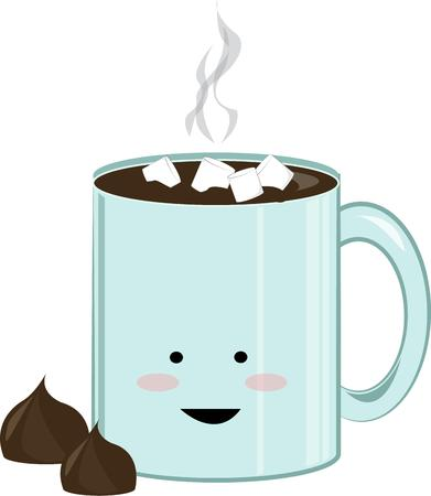 chocolat chaud: Une tasse de chocolat chaud est une boisson d'hiver.
