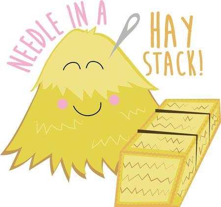 俵: This cute haystack will make a great project for a farmer.