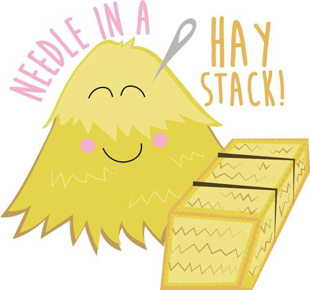bales: This cute haystack will make a great project for a farmer.