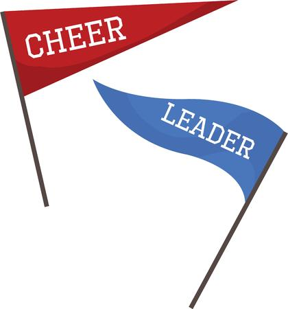 cheer leader: Use these flags to help cheer your team on.