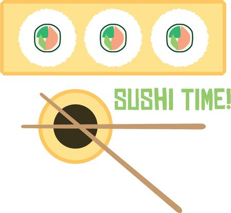 soy: Use this sushi and soy sauce design for your Eastern loving friend. Illustration