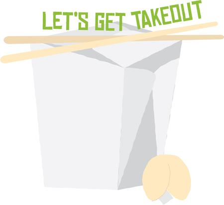 fortune cookie: Use this takeout box design for your Chinese food loving friend.