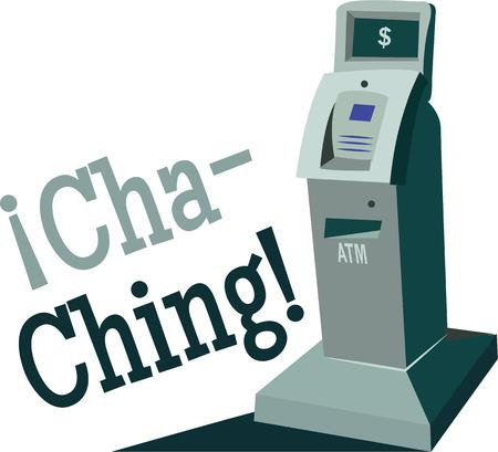 automatic teller machine bank: Have an ATM around the clock. Illustration