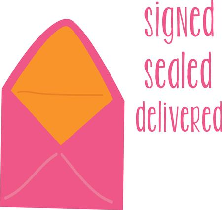 sealed: Use this envelope to send a love letter. Illustration
