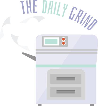 daily grind: Copier daily grind used for your next project . Pick those design by Windmill