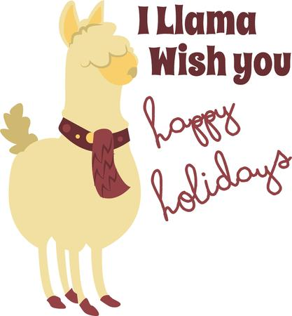 llama: A cute little llama is a nice design for your projects.