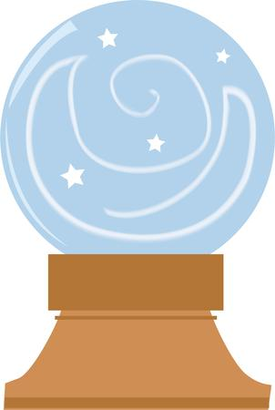 divination: Tell your fortune on a crystal ball.