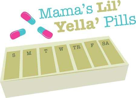 pill box: Remember to take your medicine with this pill box reminder.