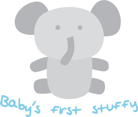 stuffy: This design will look cute on a baby bib.