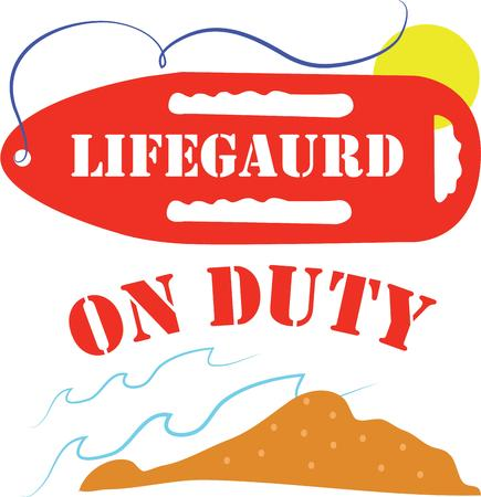 lifeguard: Make a great tshirt for a lifeguard. Illustration