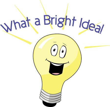 time to shine: Show off your bright ideas with a light bulb.