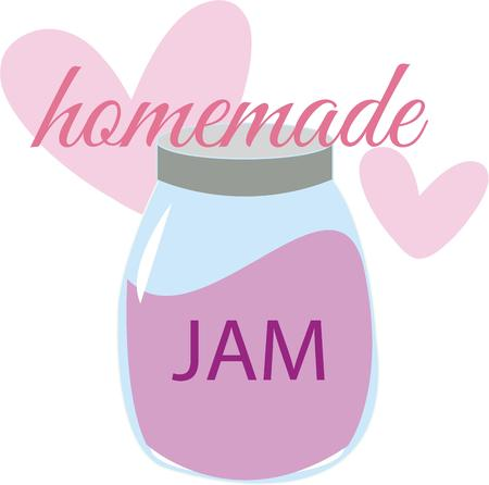 preserve: A jar of jam is a great kitchen decoration.