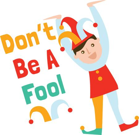 buffoon: Be silly on April fools day with a funny jester.
