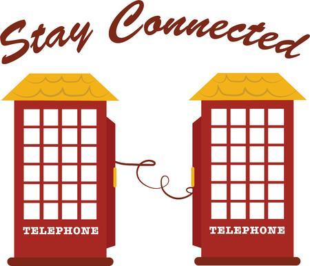 cabina telefonica: Recuerde a un amigo para estar en contacto con una cabina de tel�fono de estilo antiguo.