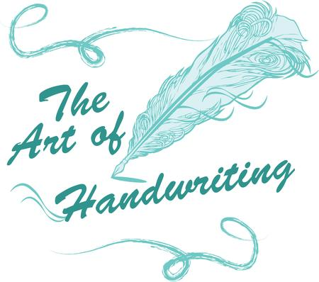 writing instrument: Add elegance with a feather quill pen. Illustration