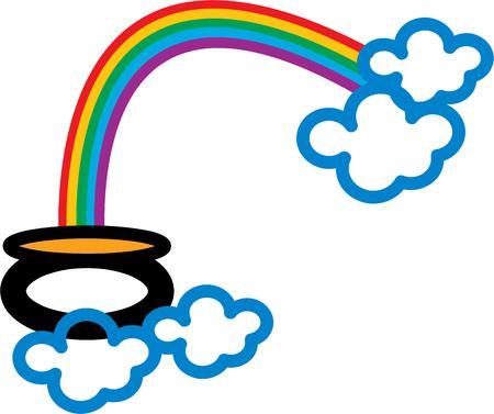 the end of a rainbow: Todo el mundo quiere encontrar una olla de oro al final del arco iris.
