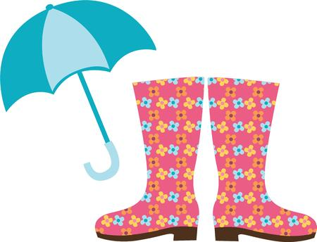 brolly: Make a rain day fun with this colorful design.