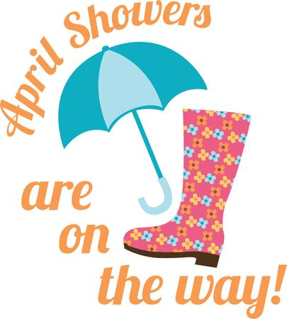 galoshes: Make a rain day fun with this colorful design.