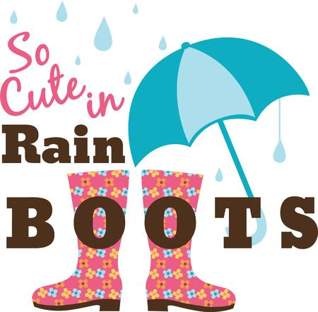 brolly: Hacer un divertido d�a de lluvia con este dise�o colorido.