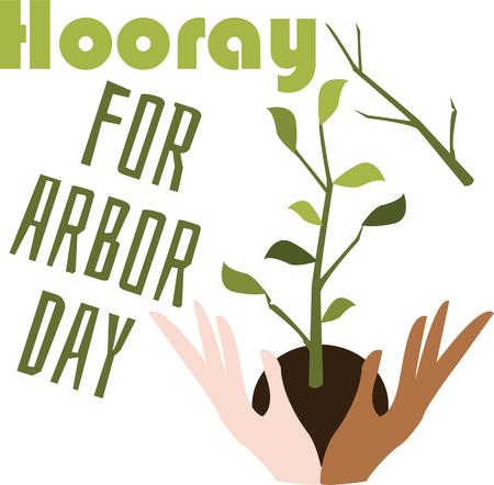 make my day: Make a great design for arbor day.