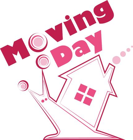 moving company: This will make a great logo for a moving company. Illustration