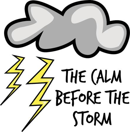 make my day: This storm cloud will make a great rain day design. Illustration