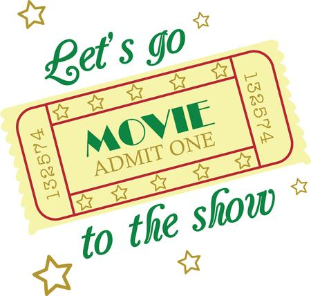 admit: Make a fun movie night project with your own tickets. Illustration