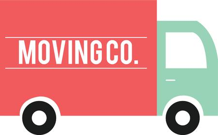 trucking: This moving truck can make a cool logo for a trucking company Illustration