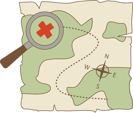 x marks the spot: Find a buried treasure on a great adventure.