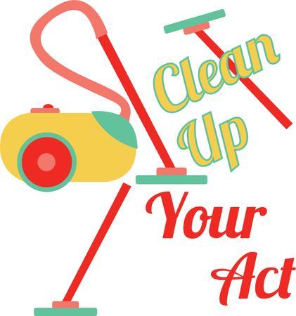 hoover: Make housework fun with a fun saying. Illustration