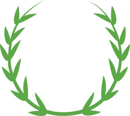 coronal: Celebrate spring with a pretty laurel wreath. Illustration